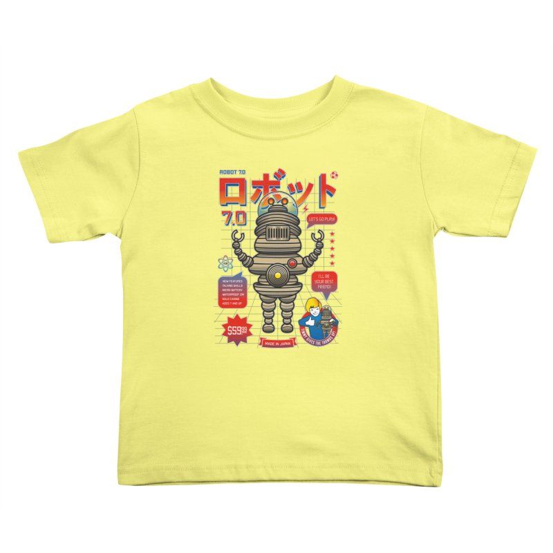 Robot 7.0 - Classic Edition Kids Toddler T-Shirt by heavyhand's Artist Shop