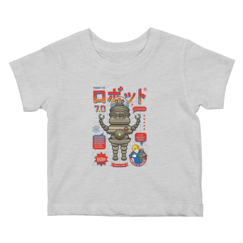Robot 7.0 - Classic Edition Kids Baby T-Shirt by heavyhand's Artist Shop