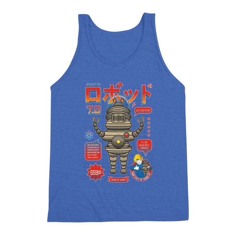 Robot 7.0 - Classic Edition Men's Triblend Tank by heavyhand's Artist Shop