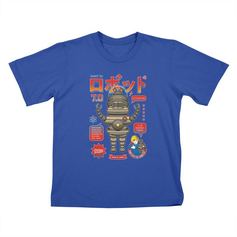 Robot 7.0 - Classic Edition Kids T-Shirt by heavyhand's Artist Shop