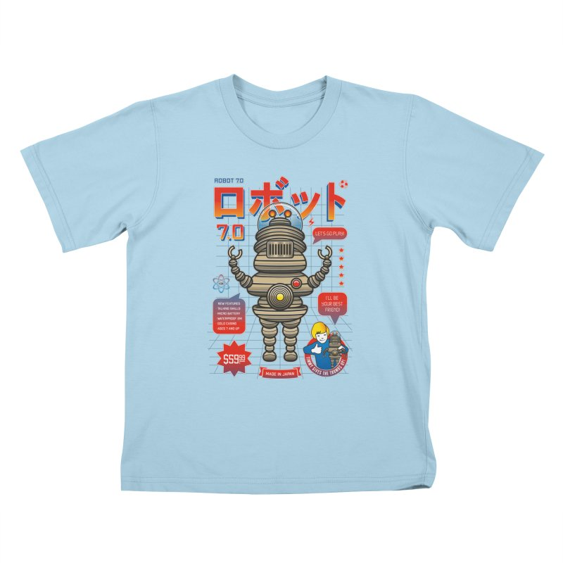 Robot 7.0 - Classic Edition Kids T-Shirt by heavyhand's Artist Shop