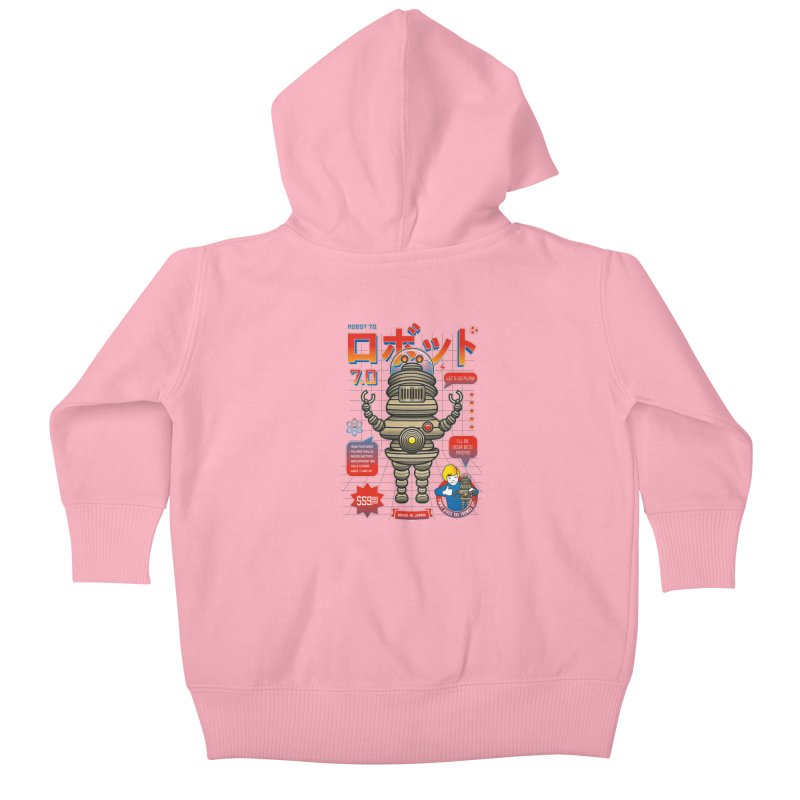 Robot 7.0 - Classic Edition Kids Baby Zip-Up Hoody by heavyhand's Artist Shop