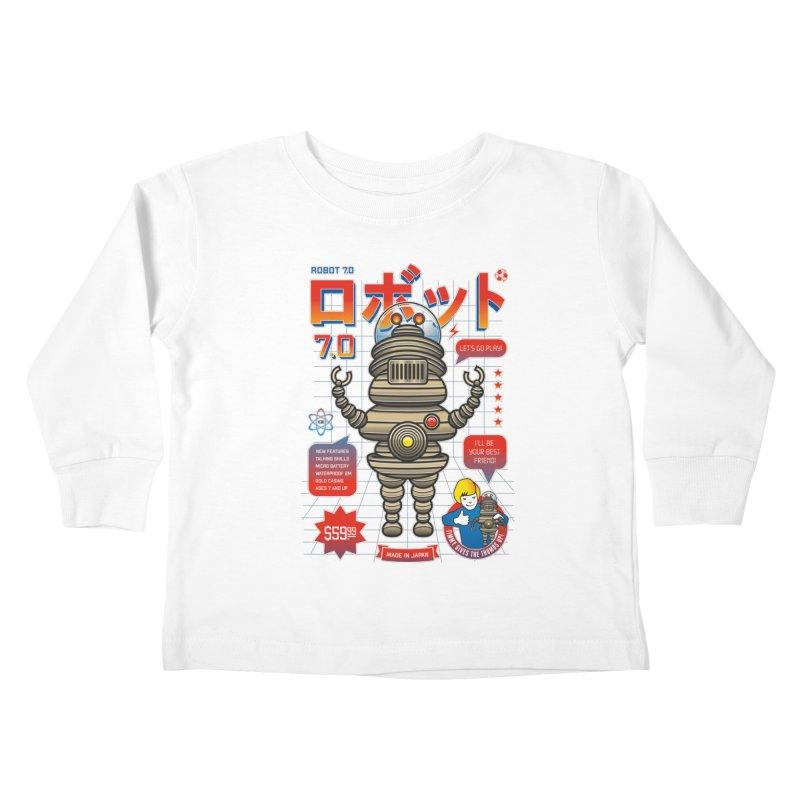 Robot 7.0 - Classic Edition Kids Toddler Longsleeve T-Shirt by heavyhand's Artist Shop