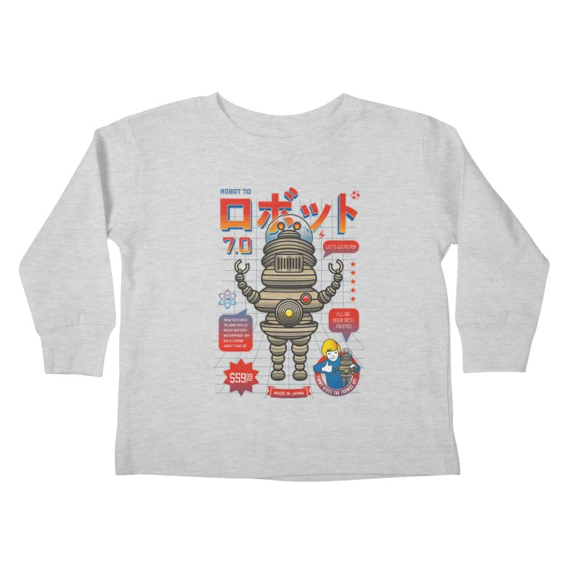 Robot 7.0 - Classic Edition Kids Toddler Longsleeve T-Shirt by heavyhand's Artist Shop