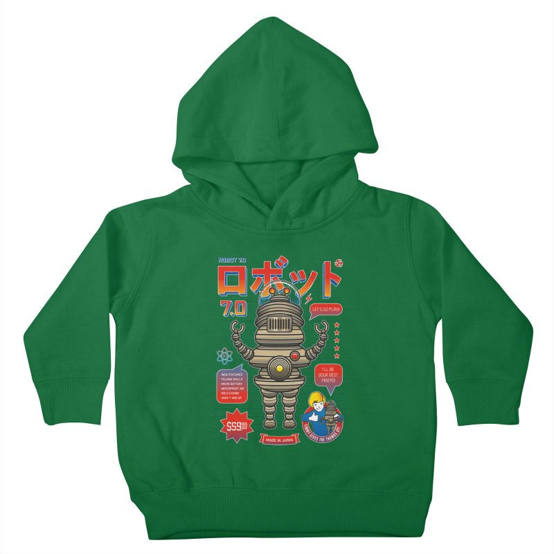 Robot 7.0 - Classic Edition Kids Toddler Pullover Hoody by heavyhand's Artist Shop