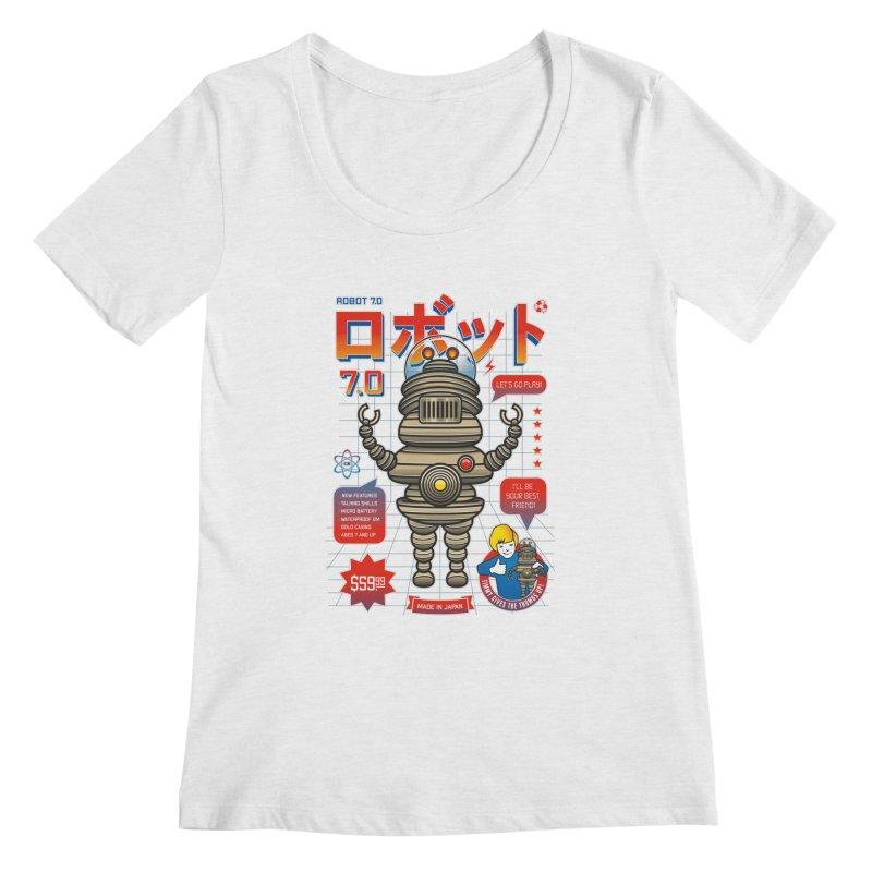 Robot 7.0 - Classic Edition Women's Scoopneck by heavyhand's Artist Shop