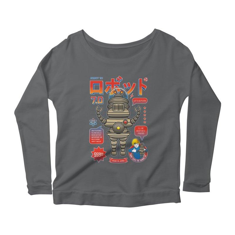 Robot 7.0 - Classic Edition Women's Longsleeve Scoopneck  by heavyhand's Artist Shop