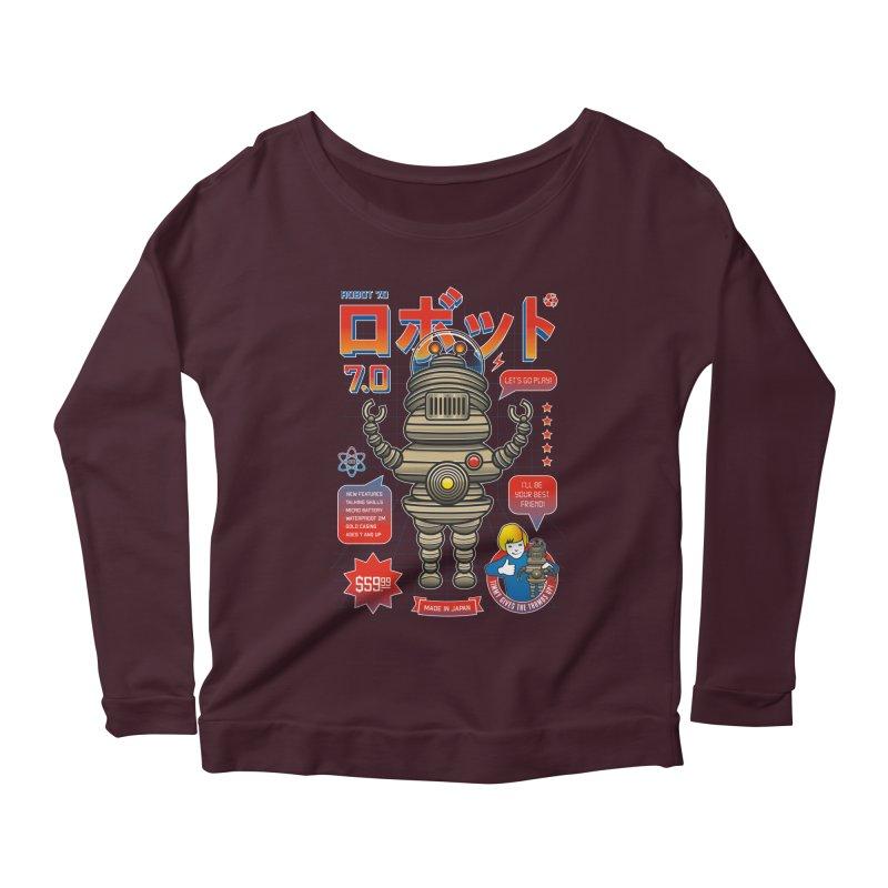 Robot 7.0 - Classic Edition Women's Scoop Neck Longsleeve T-Shirt by heavyhand's Artist Shop