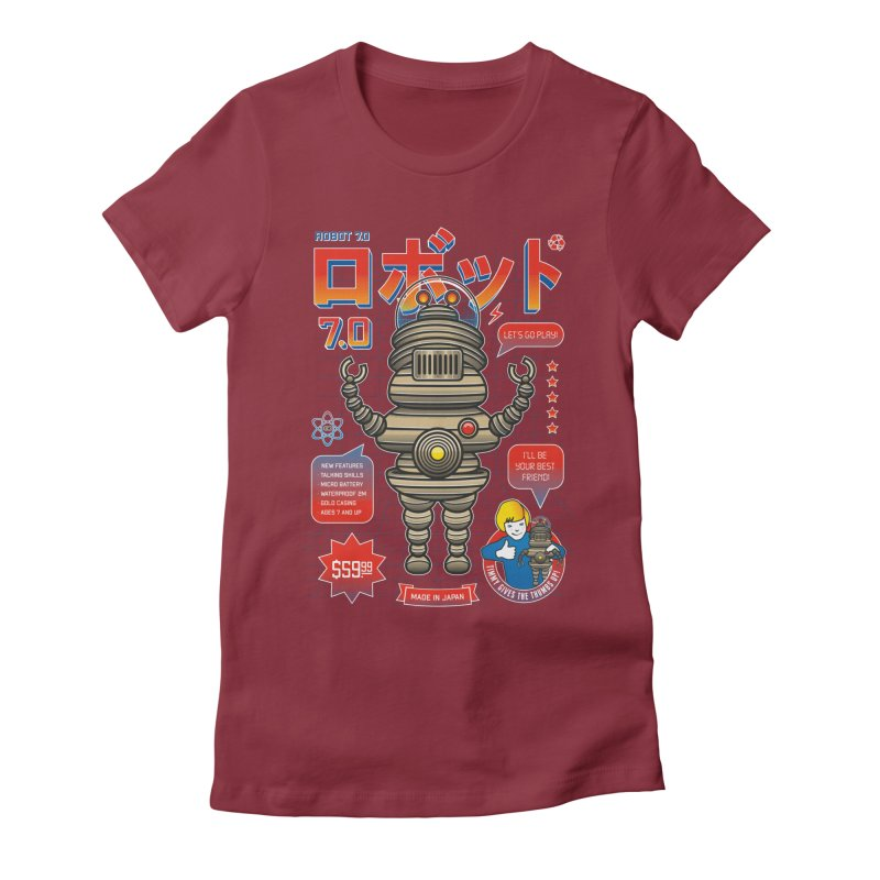 Robot 7.0 - Classic Edition Women's Fitted T-Shirt by heavyhand's Artist Shop