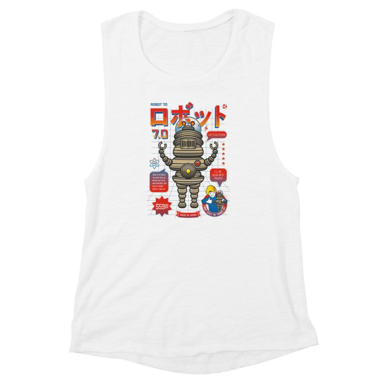 Robot 7.0 - Classic Edition Women's Muscle Tank by heavyhand's Artist Shop
