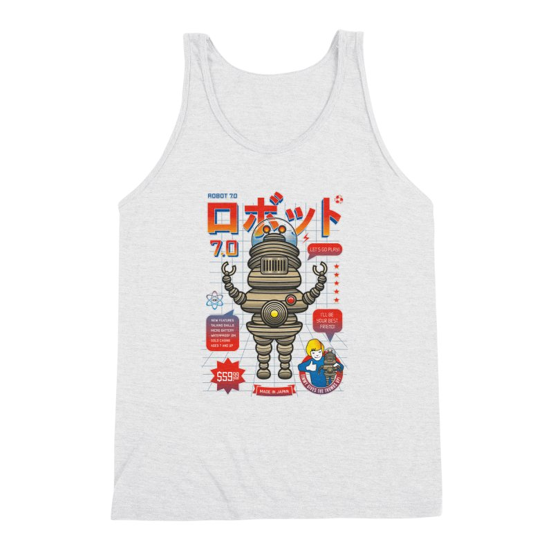 Robot 7.0 - Classic Edition Men's Triblend Tank by heavyhand's Artist Shop