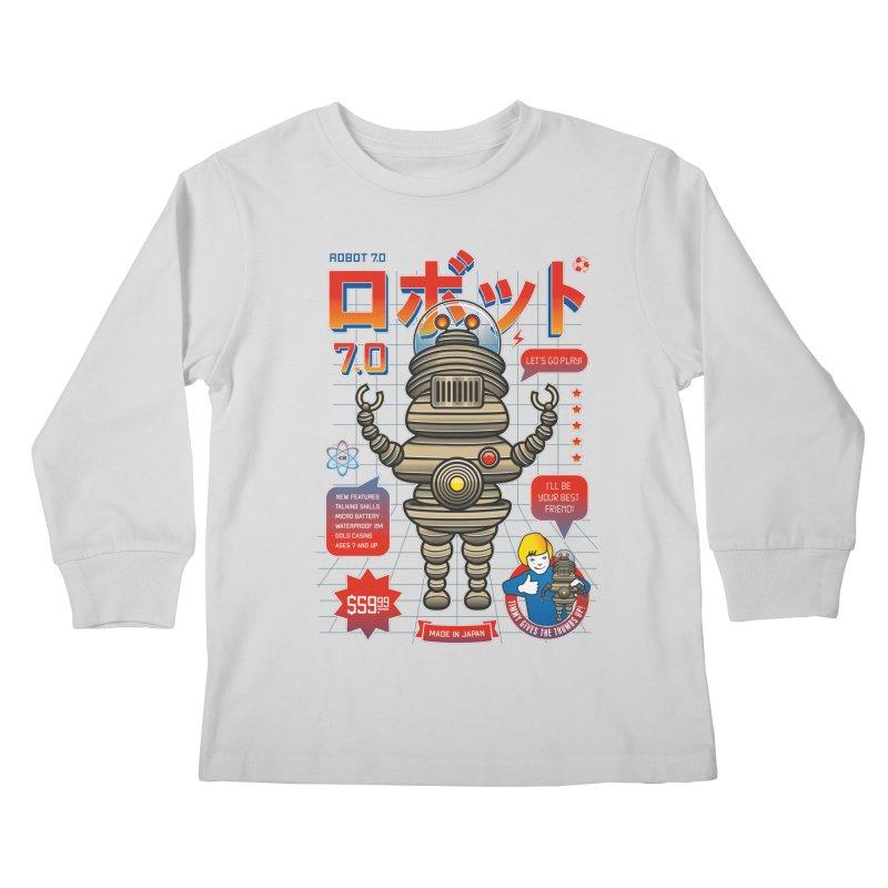 Robot 7.0 - Classic Edition Kids Longsleeve T-Shirt by heavyhand's Artist Shop