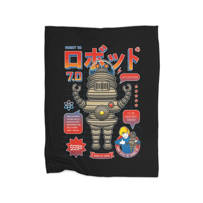 Robot 7.0 - Classic Edition Home Blanket by heavyhand's Artist Shop