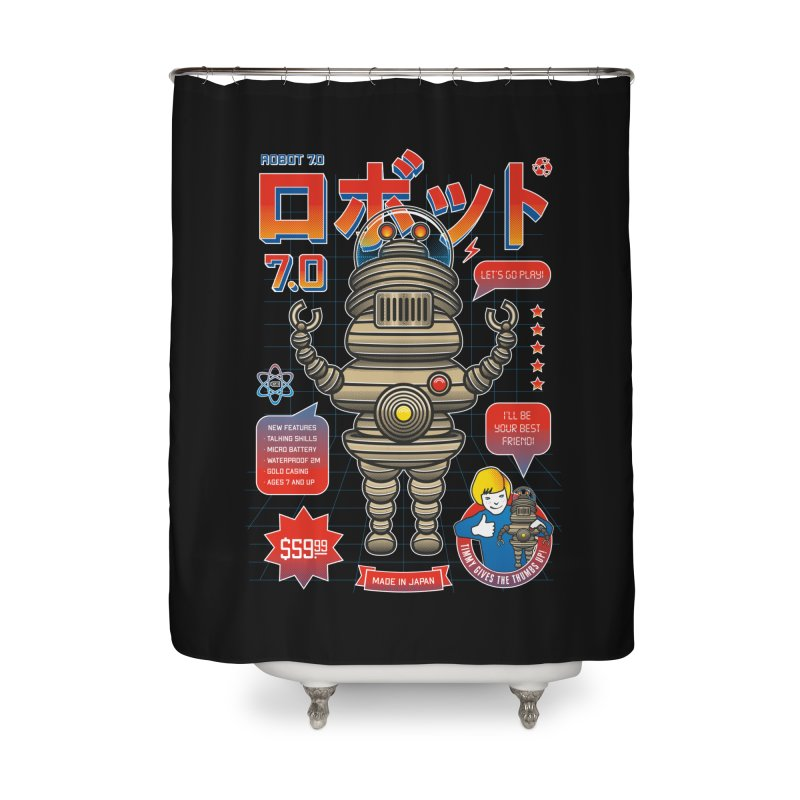 Robot 7.0 - Classic Edition Home Shower Curtain by heavyhand's Artist Shop