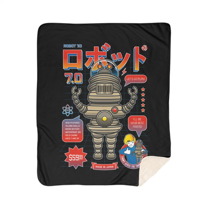 Robot 7.0 - Classic Edition Home Sherpa Blanket Blanket by heavyhand's Artist Shop