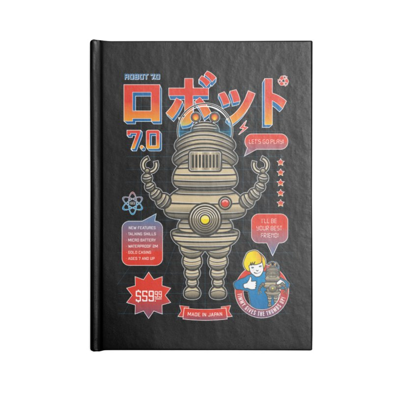 Robot 7.0 - Classic Edition Accessories Lined Journal Notebook by heavyhand's Artist Shop