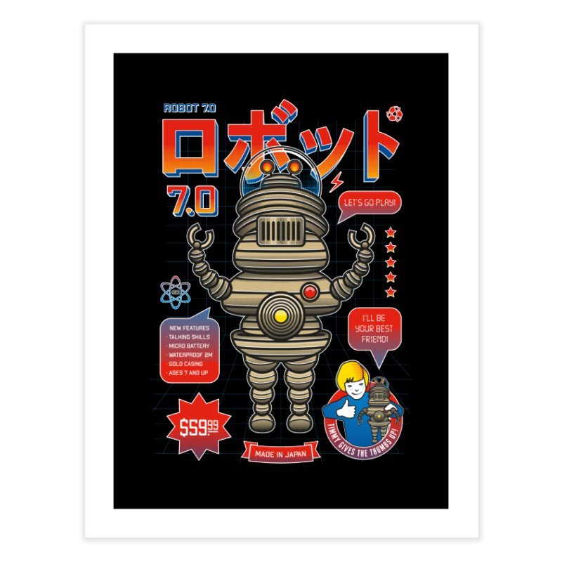 Robot 7.0 - Classic Edition Home Fine Art Print by heavyhand's Artist Shop