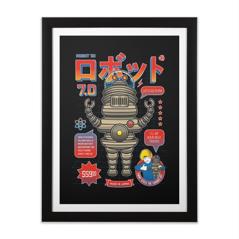 Robot 7.0 - Classic Edition Home Framed Fine Art Print by heavyhand's Artist Shop