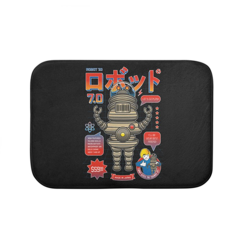 Robot 7.0 - Classic Edition Home Bath Mat by heavyhand's Artist Shop