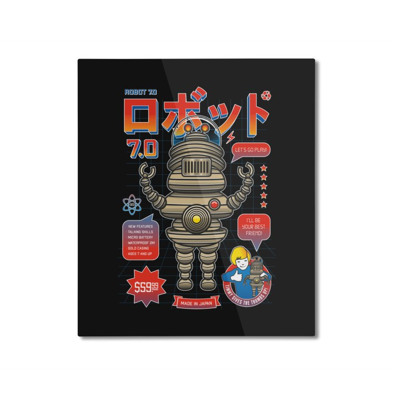 Robot 7.0 - Classic Edition Home Mounted Aluminum Print by heavyhand's Artist Shop