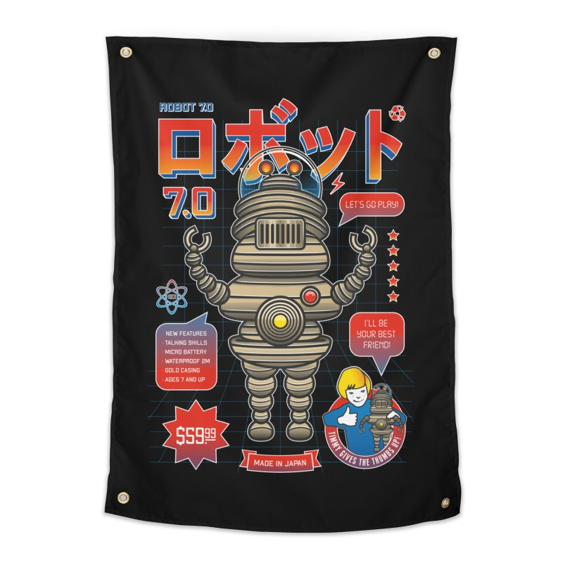 Robot 7.0 - Classic Edition Home Tapestry by heavyhand's Artist Shop