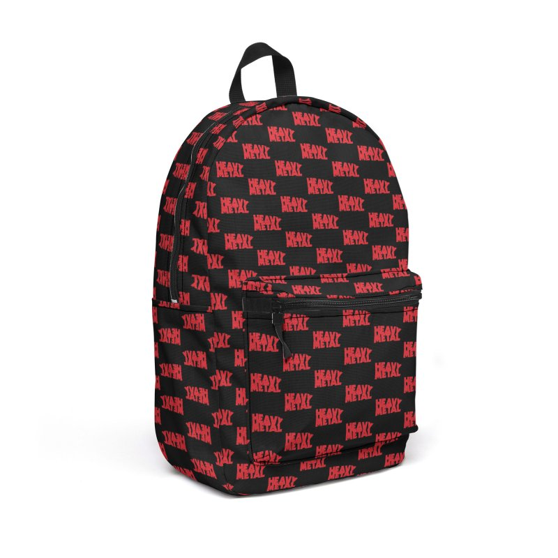 Heavy Metal Red Logo Accessories Backpack Bag by Heavy Metal Magazine