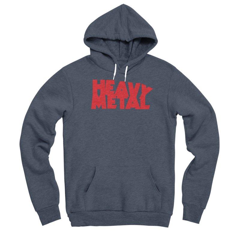 Heavy Metal Red Logo Men's Sponge Fleece Pullover Hoody by Heavy Metal Magazine
