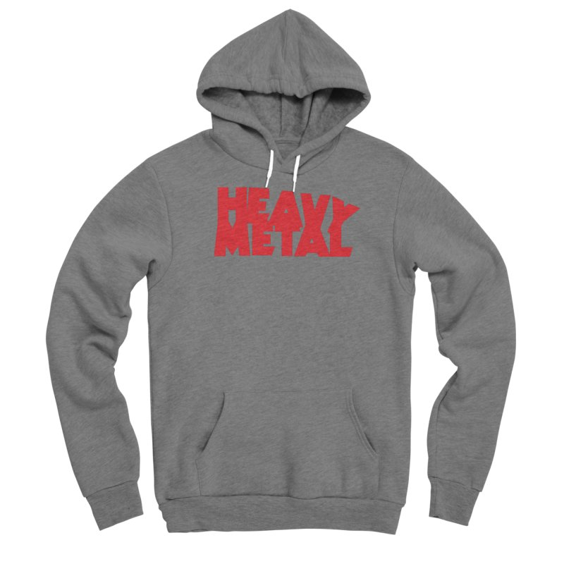 Heavy Metal Red Logo Women's Pullover Hoody by Heavy Metal Magazine