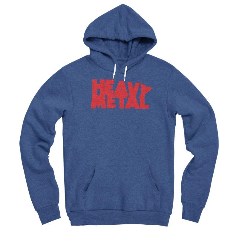 Heavy Metal Red Logo Men's Pullover Hoody by Heavy Metal Magazine