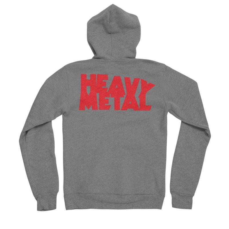 Heavy Metal Red Logo Men's Zip-Up Hoody by Heavy Metal Magazine