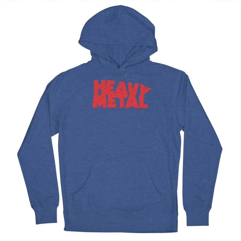 Heavy Metal Red Logo Men's French Terry Pullover Hoody by Heavy Metal Magazine