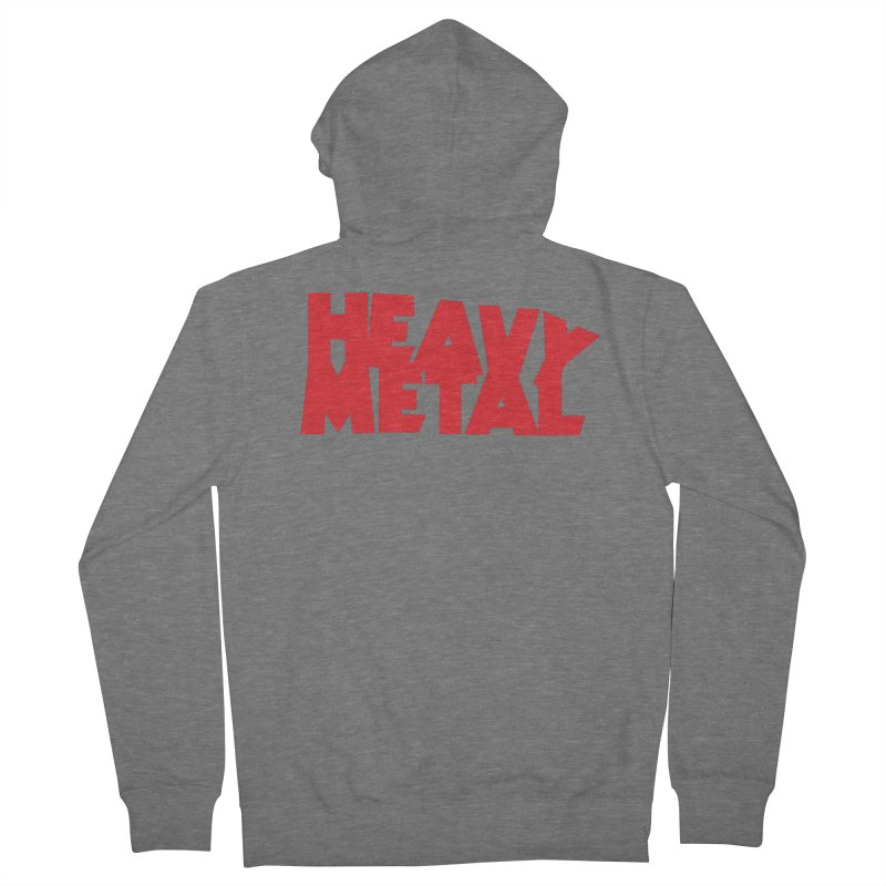 Heavy Metal Red Logo Women's French Terry Zip-Up Hoody by Heavy Metal Magazine
