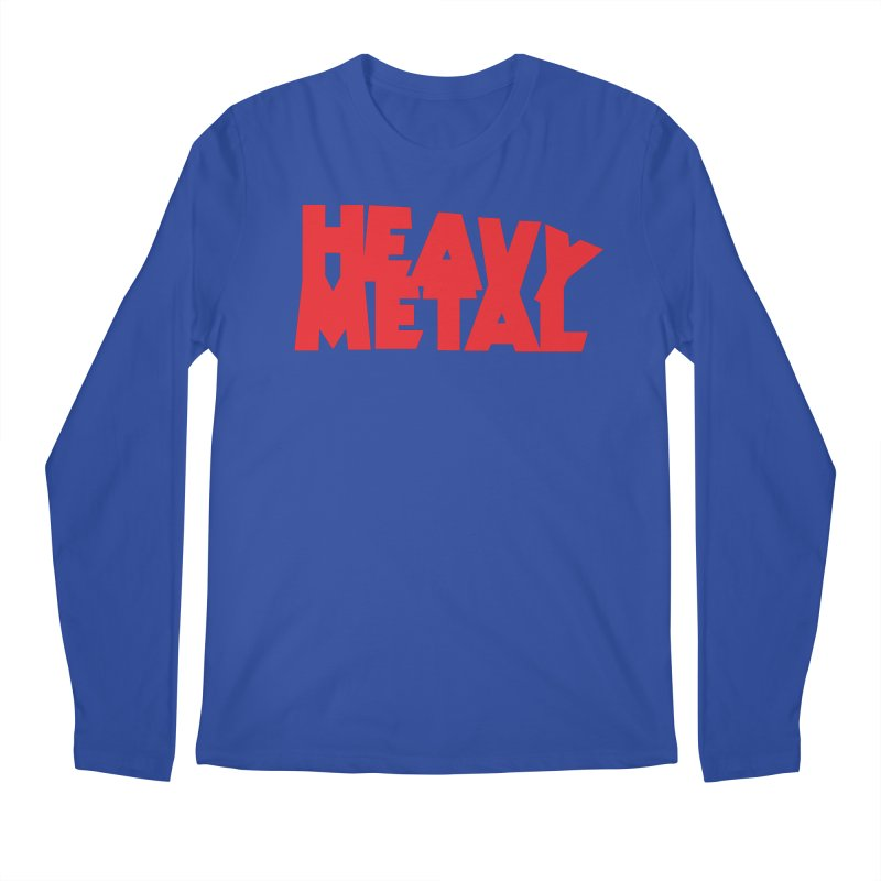 Heavy Metal Red Logo Men's Regular Longsleeve T-Shirt by Heavy Metal Magazine