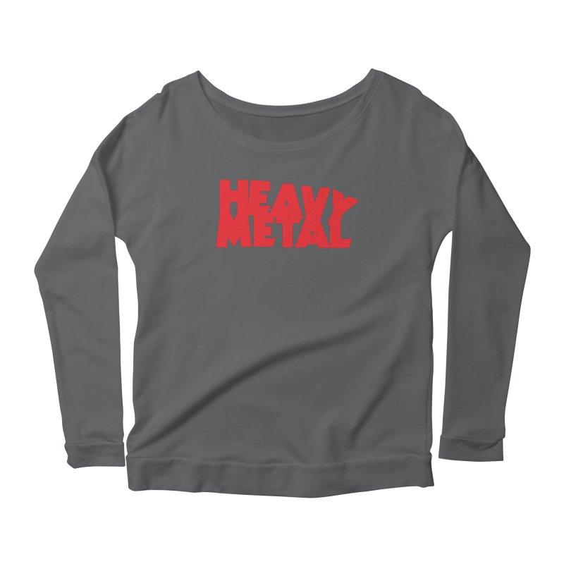 Heavy Metal Red Logo Women's Scoop Neck Longsleeve T-Shirt by Heavy Metal Magazine