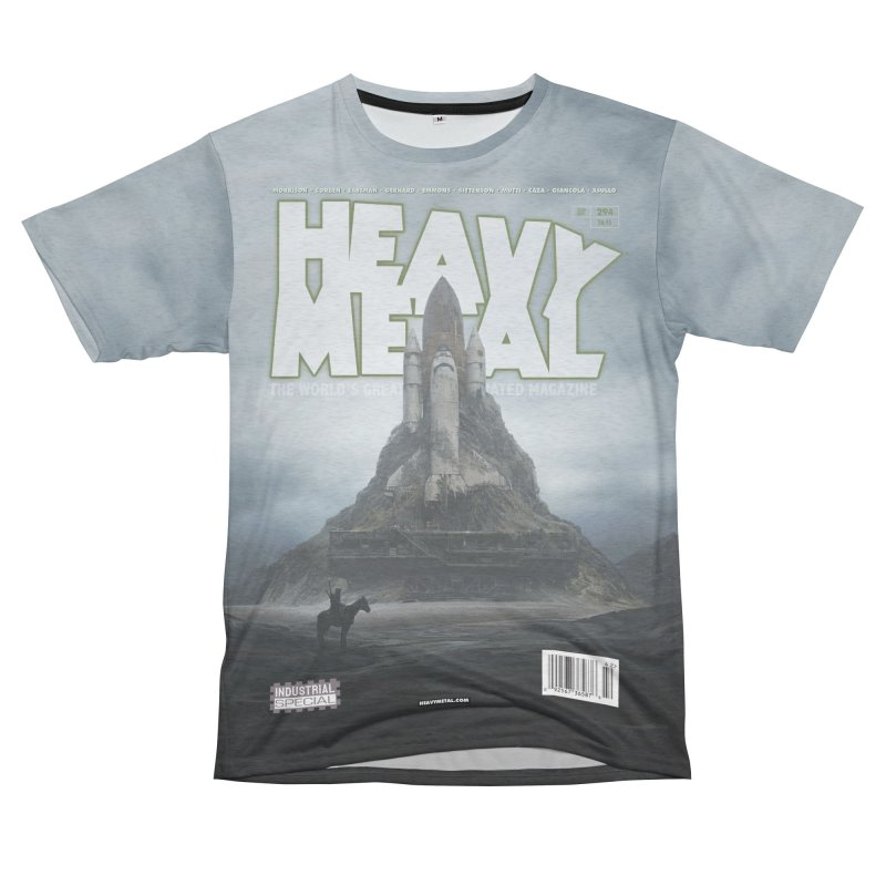 HEAVY METAL 294 Women's Unisex French Terry T-Shirt Cut & Sew by Heavy Metal Magazine