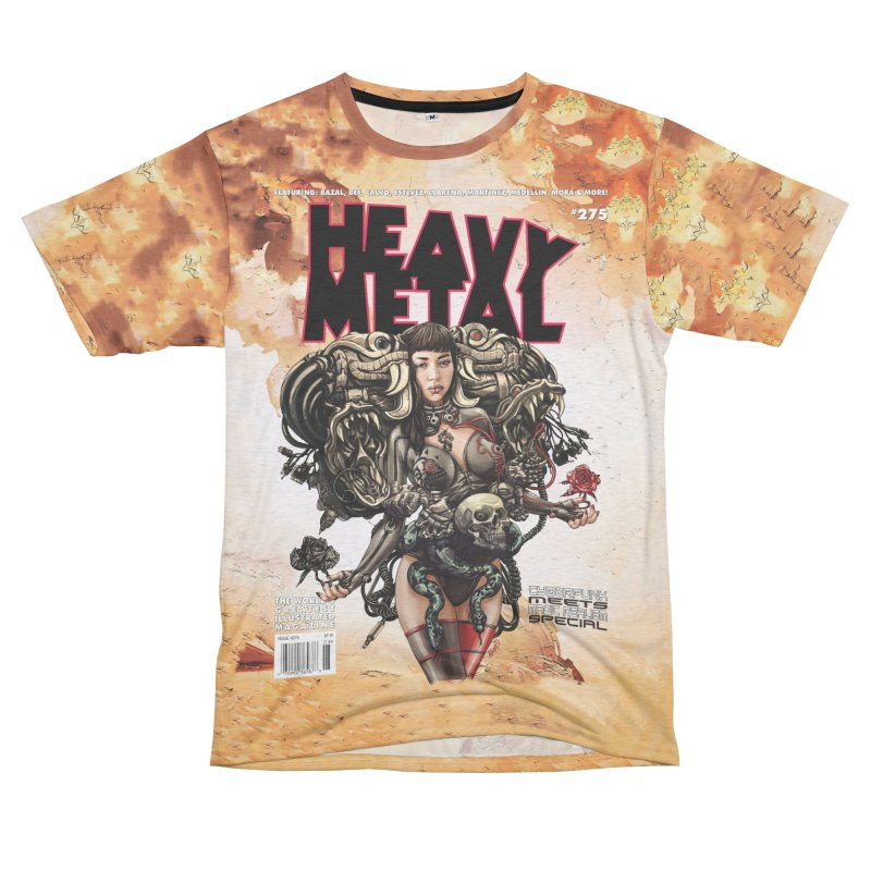 HEAVY METAL 275 Women's Unisex French Terry T-Shirt Cut & Sew by Heavy Metal Magazine