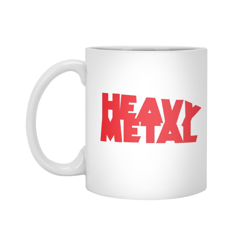 Heavy Metal Red Logo Accessories Standard Mug by Heavy Metal Magazine