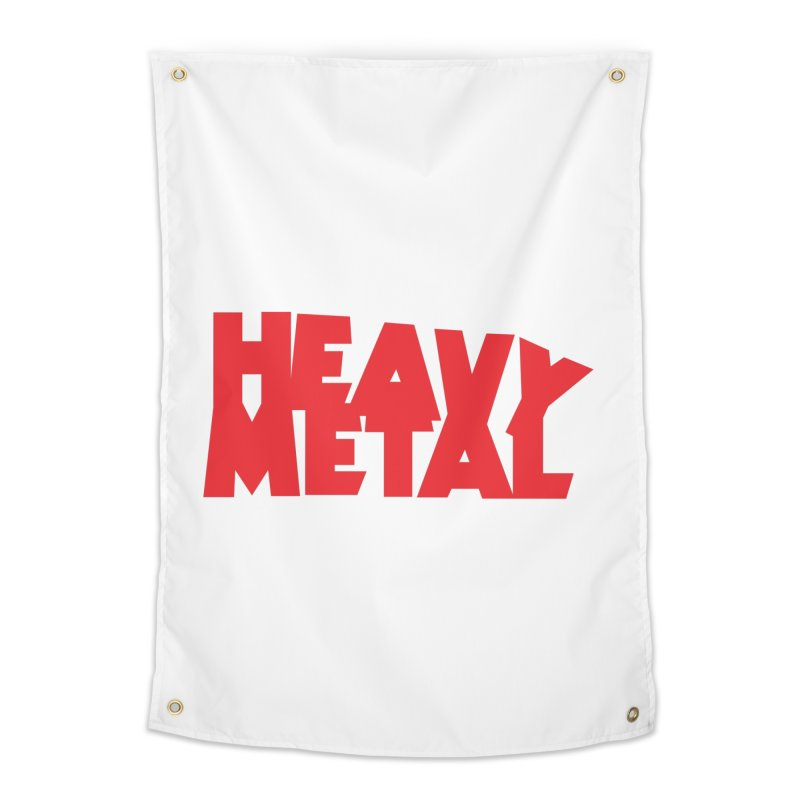 Heavy Metal Red Logo Home Tapestry by Heavy Metal Magazine