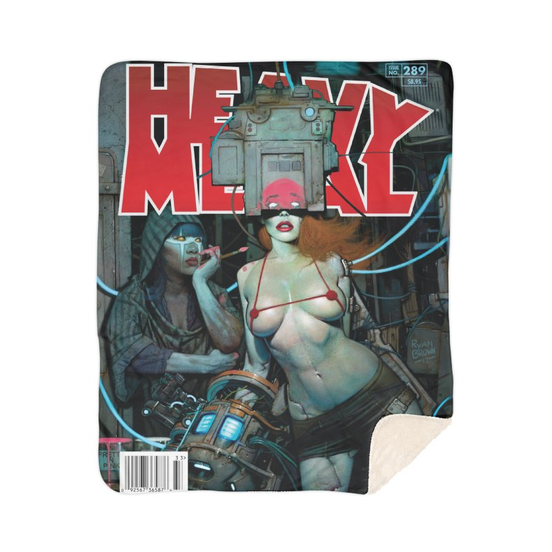 HEAVY METAL 289 Home Sherpa Blanket Blanket by Heavy Metal Magazine
