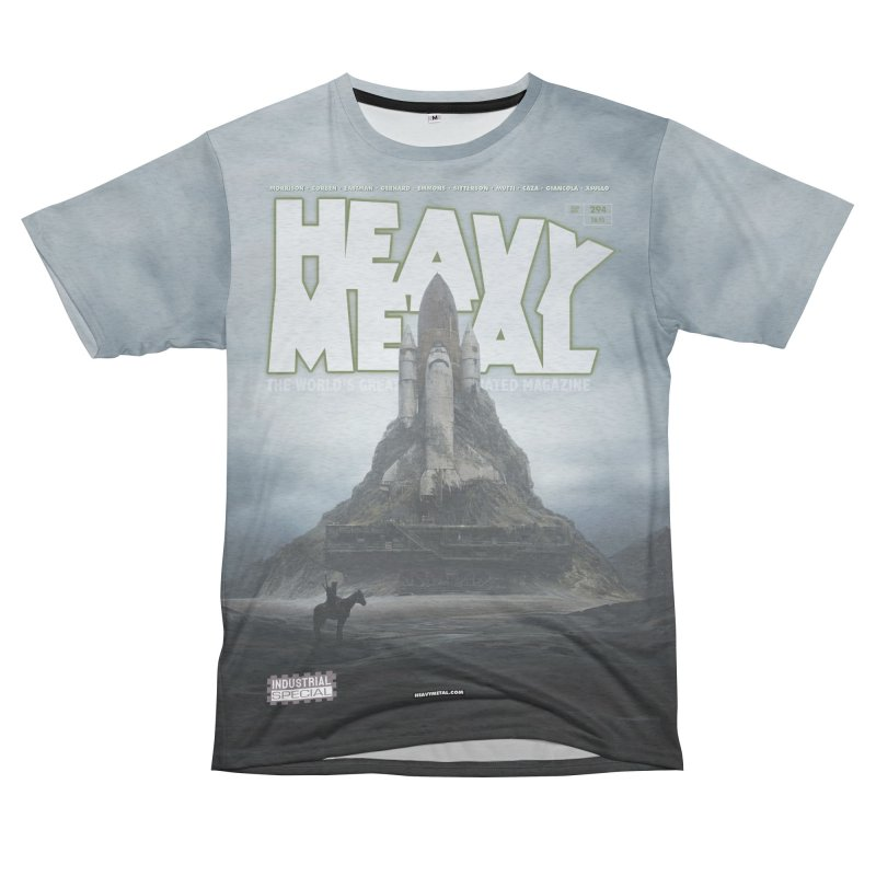 HEAVY METAL 294 V2 Women's Unisex French Terry T-Shirt Cut & Sew by Heavy Metal Magazine