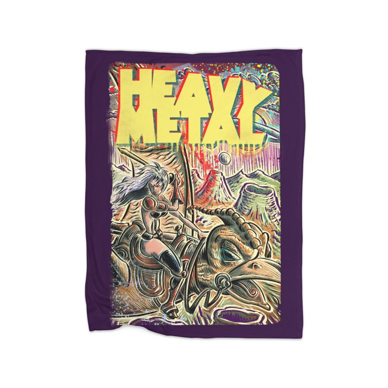 Joe Badon Home Fleece Blanket Blanket by Heavy Metal Magazine