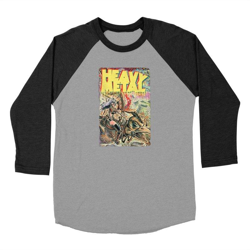 Joe Badon Women's Baseball Triblend Longsleeve T-Shirt by Heavy Metal Magazine