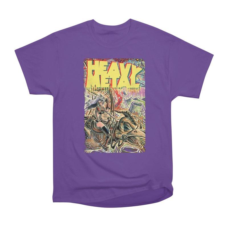 Joe Badon Women's Heavyweight Unisex T-Shirt by Heavy Metal Magazine