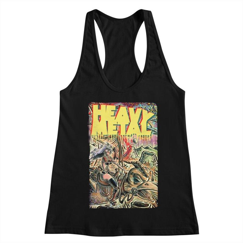 Joe Badon Women's Racerback Tank by Heavy Metal Magazine