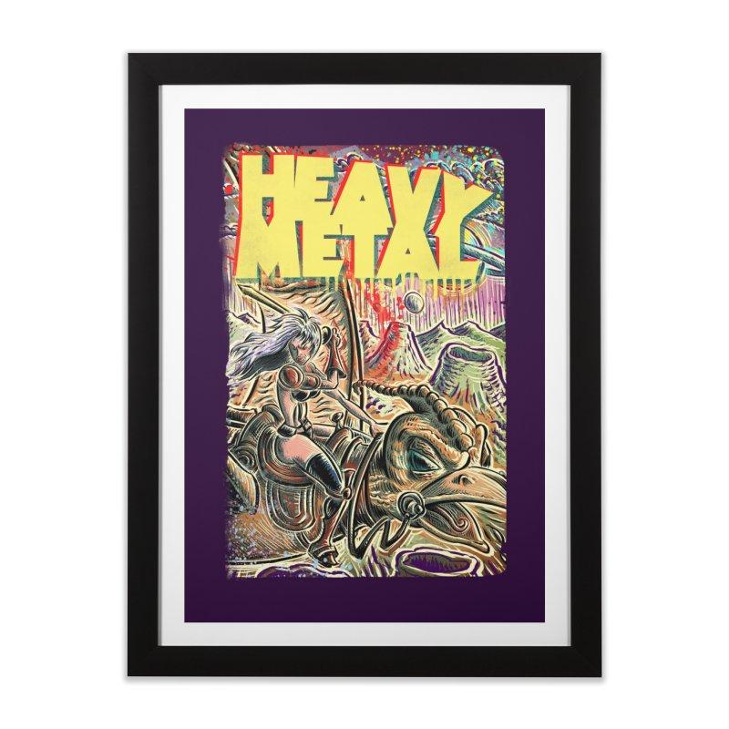 Joe Badon in Framed Fine Art Print Black by Heavy Metal Magazine