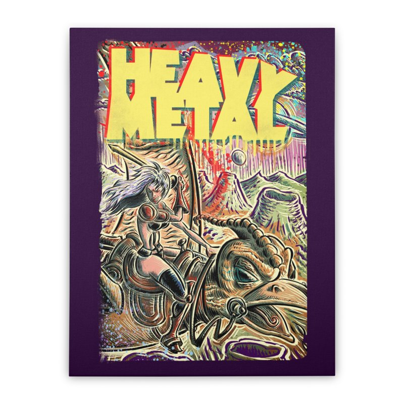 Joe Badon Home Stretched Canvas by Heavy Metal Magazine