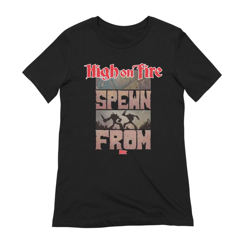 HIGH ON FIRE Heavy Metal 295 64 Women's Extra Soft T-Shirt by Heavy Metal Magazine