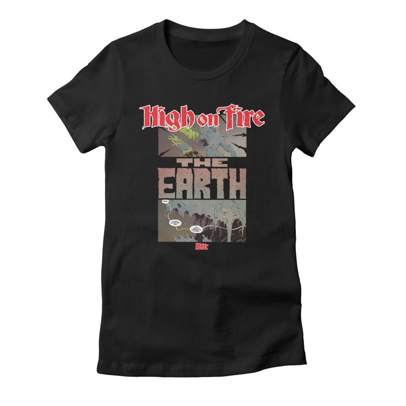 HIGH ON FIRE Heavy Metal 295 65 Women's Fitted T-Shirt by Heavy Metal Magazine