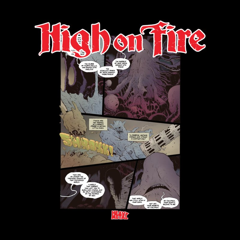 HIGH ON FIRE Heavy Metal 295 66 Women's T-Shirt by Heavy Metal Magazine