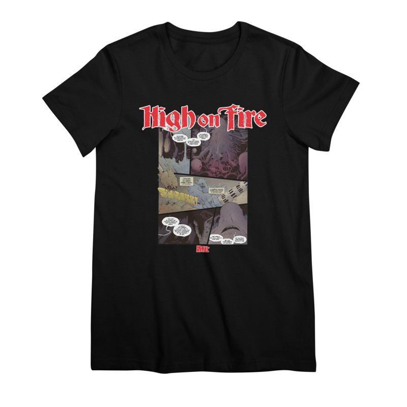 HIGH ON FIRE Heavy Metal 295 66 Women's Premium T-Shirt by Heavy Metal Magazine